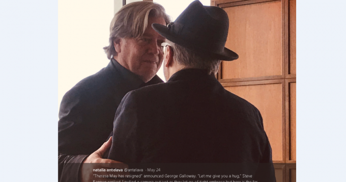 @IndyUnicorn I prefer this picture of Galloway, post-hug with his white supremacy buddy Steve Bannon.