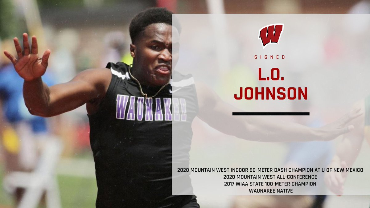 #Badgers add @2LOJohnson to their 2021 roster. Former state champion from Waunakee and 2020 Mountain West champion at 60 meters! https://t.co/jJ0vYijNhk