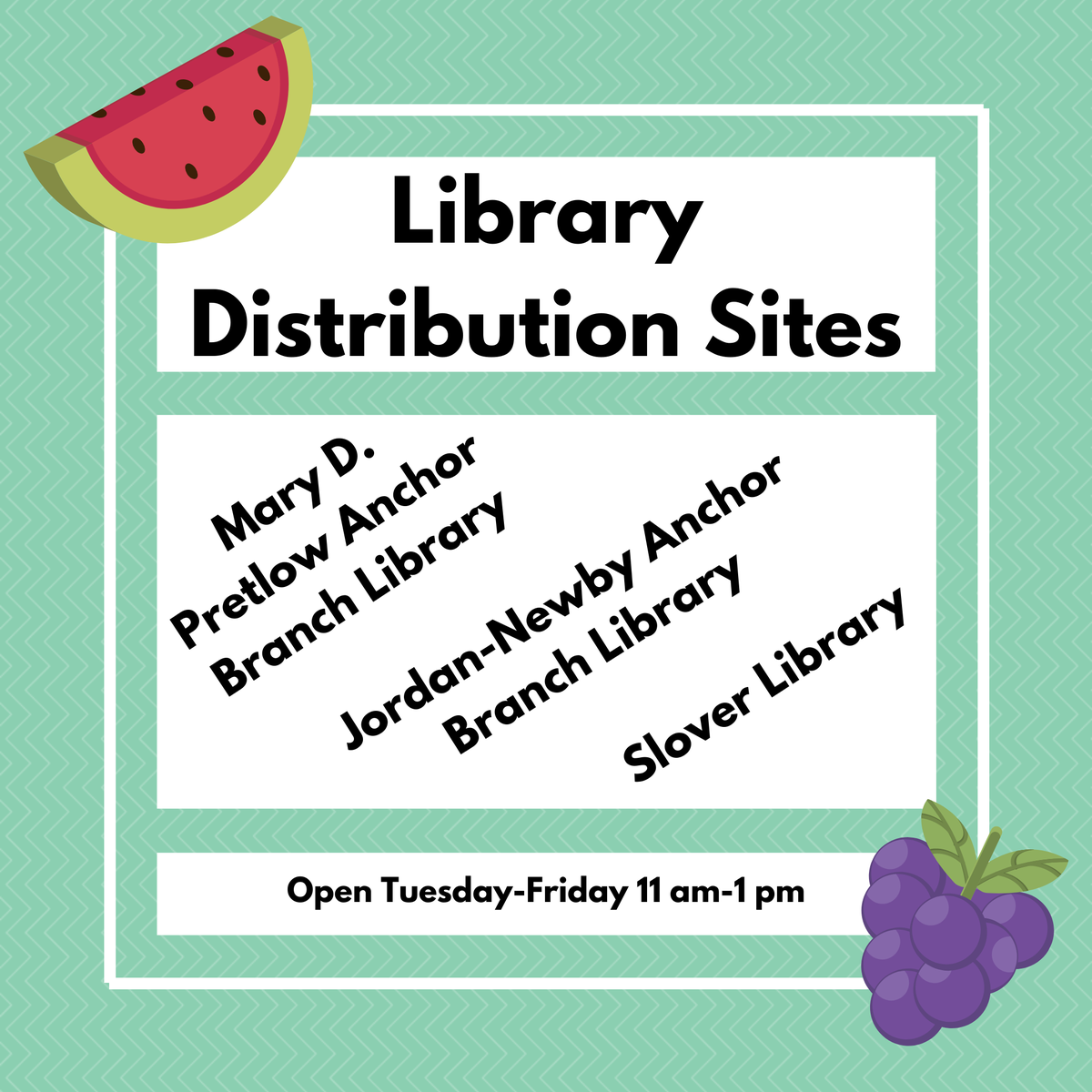 NEW MEAL SITES OPEN STARTING TOMORROW!  Our friends at @NorfPublicLib have partnered with us at @SloverLibrary, Pretlow Library, and Jordan-Newby Library to distribute #grabandgo meals Tuesday through Friday from 11-1. Meals include breakfast &lunch. #InThisTogether #NoKidHungry https://t.co/XThawPBlEp