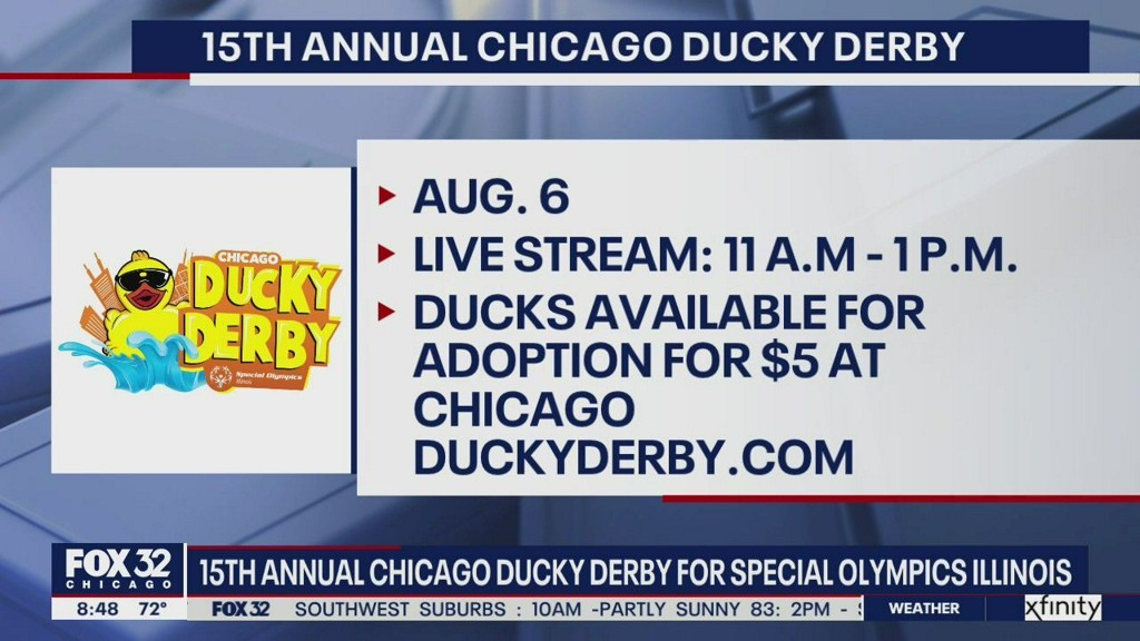 15th annual Chicago Ducky Derby goes virtual to support Special Olympics Illinois fox32chicago.com/video/738818?t…