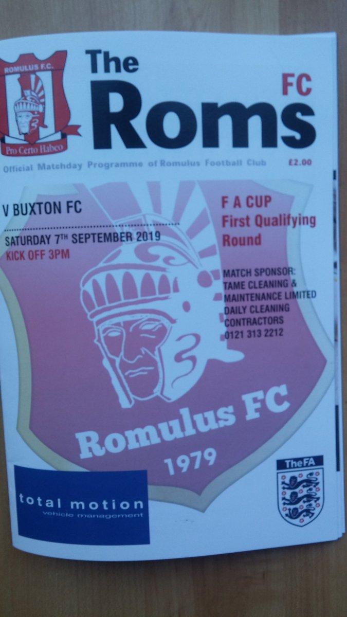 #NonLeague #RProgs in #FACup   @Romulus_fc v @Buxton_FC 2019-20 season  @NonLgeProgs https://t.co/uLaT4ACkOr