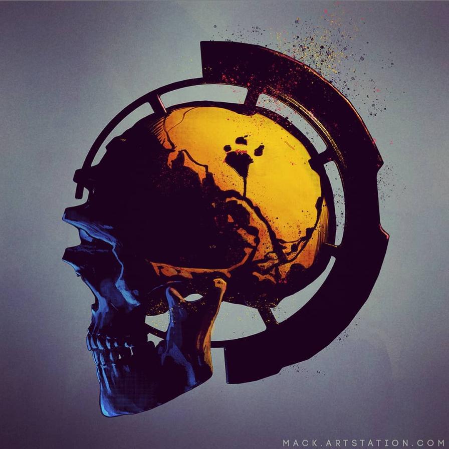 Quick tech skull to start the week.  #macksztaba #art #artstationhq #scifiart #concept #conceptart #conceptdesigner #art #sketch #skull #skulltech https://t.co/pgsXWY5pjX