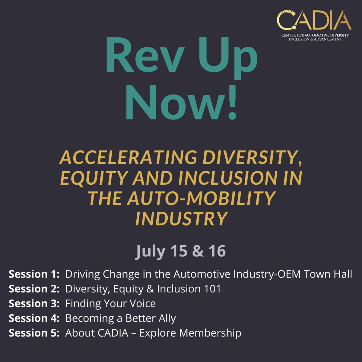 We're proud to work with the Center for Automotive Diversity, Inclusion & Advancement and to sponsor their Rev Up Now event this week. Join us as we continue the dialogue on diversity and inclusion in the automotive industry: https://t.co/qtGgFhfDEl https://t.co/3JQJbBdqJ0