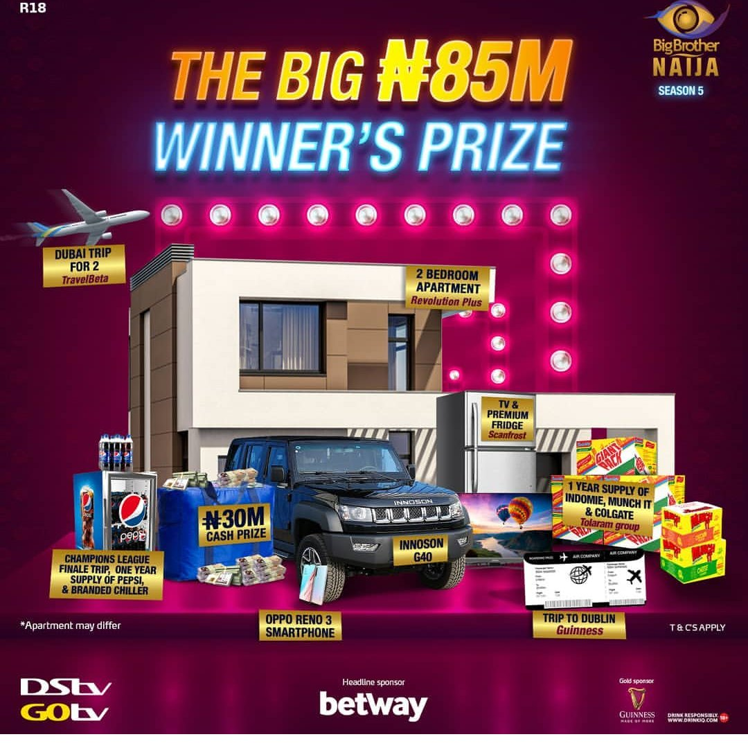 BBNaija organisers reveal grand prize for Season 5 winner, other gifts