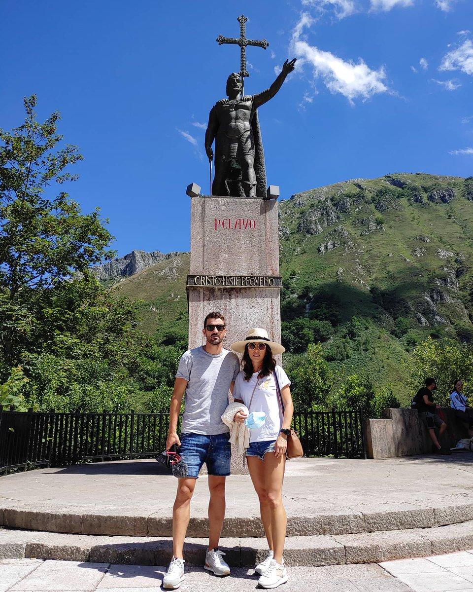 💙💛🙏 #reypelayo #covadonga #asturiasparaisonatural #veranoenasturias