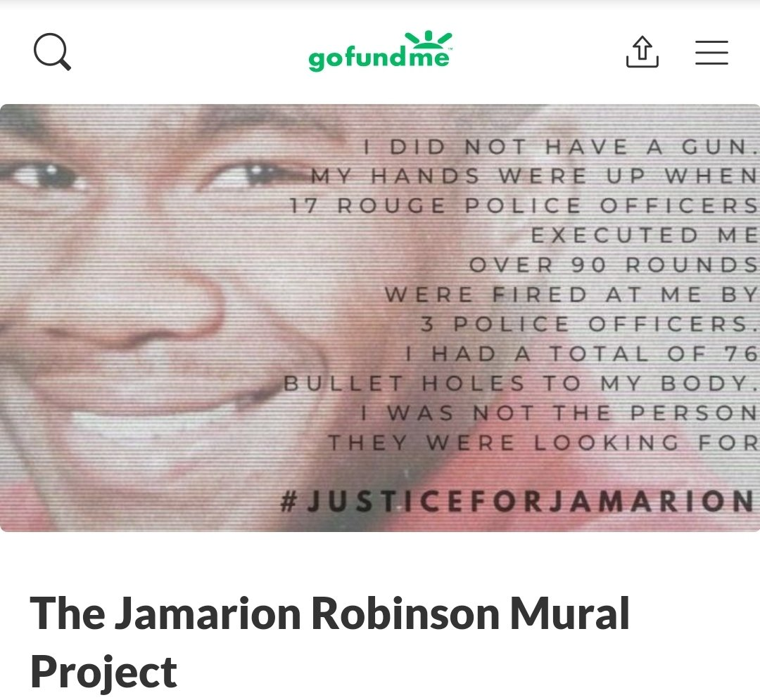 FUNDRAISER LAUNCH 📣Please share widely📣 Support this demand for visibility and accountability by participating. Contributions will go towards mural supplies and to compensate all artists for their time, commitment and labour. #atlantaprotest #jamarionrobinson https://t.co/AdMVCH6t3b