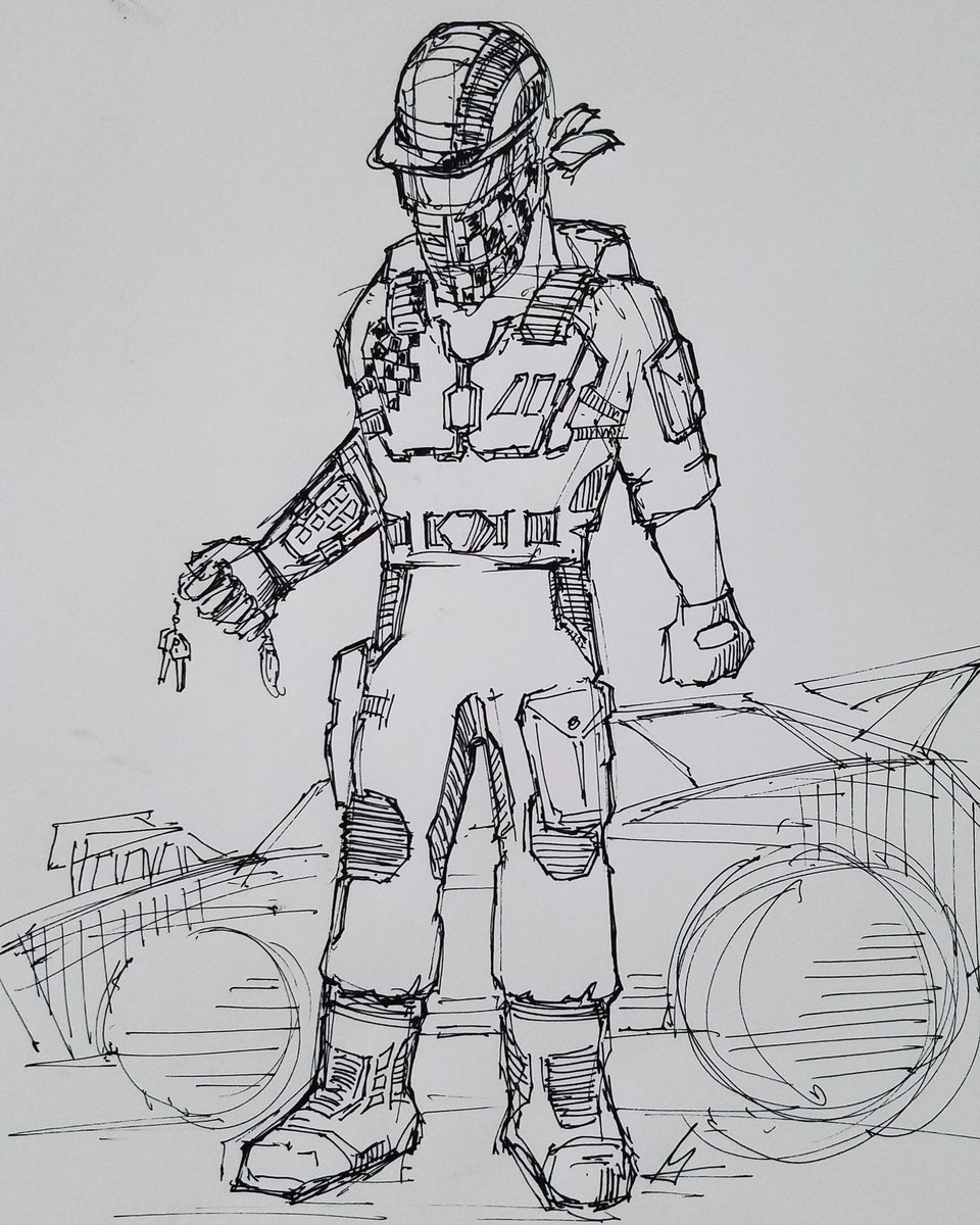 Jack's racing suit with stasis chute. This scene happens near the end of the story, probably as part of the climactic rescue mission. Rabbit's foot NOT optional;)  #industrialdesign #sketch #drawing #auto #sciencefiction #distancenovel #art #clothing #sport #illustration #design https://t.co/eWPNCC5oNL