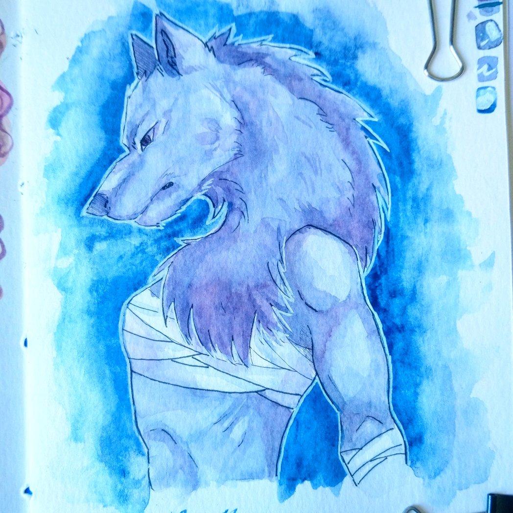 Lycanthrope, un loup-garou mangeur d'Hommes  #sketch #drawing #watercolor  #sketchbook #werewolf https://t.co/XRSZSYZrcG