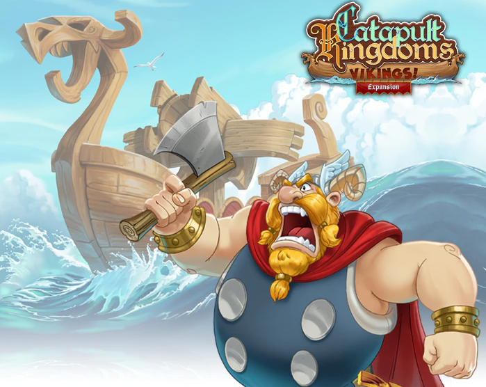 New Viking Expansion! The Vikings have arrived and declared WAR on both families! https://t.co/1gYyeYSgR8 #CatapultKingdoms #Kickstarter #boardgame #tabletopgaming #FamilyFeud #familygame #dexterity #Vikings https://t.co/zXinvIQRJ8