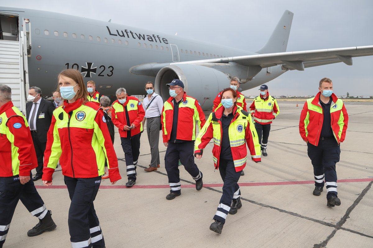 ✈️Landed: an EU emergency medical team from Germany has just arrived in Armenia. Their two-week mission will support Armenian health experts in the fight against coronavirus. Danke! 🇩🇪🇪🇺🇦🇲  #EUCivPro #StrongerTogether https://t.co/vT6GslwWdX
