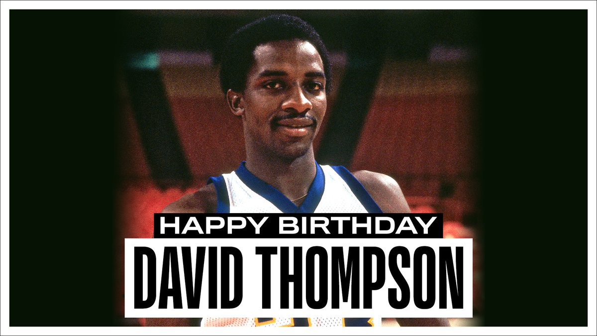 Join us in wishing a Happy 66th Birthday to 5x All-Star and @Hoophall inductee, David Thompson! #NBABDAY https://t.co/JMAotsJyoP