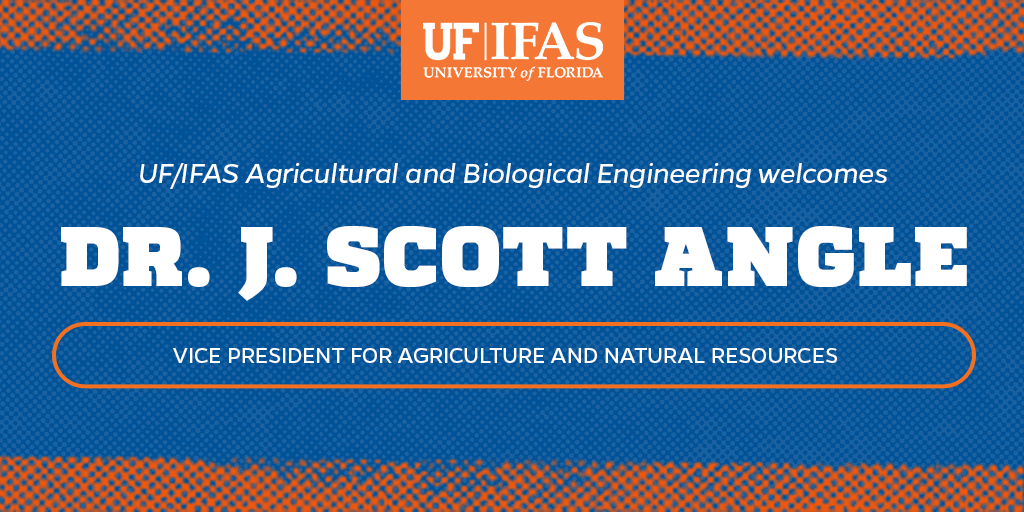 Sending a warm Florida welcome to Dr. Scott Angle (@IFAS_VP) from all of us in the #UFABE department!