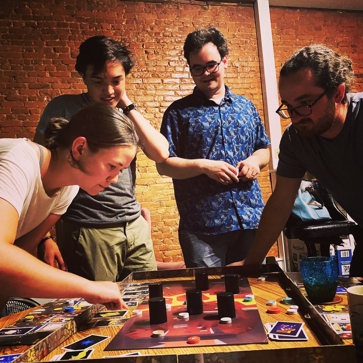 Great people, great games. . . . #catacombs #boardgames #games #friday #elzragames #cosmicencounter #fantasyflightgames https://t.co/JEVYZQHOoW