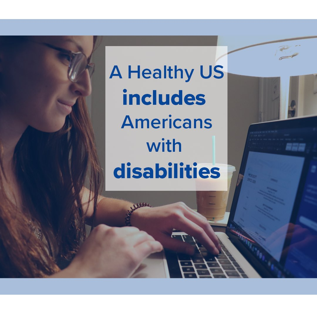 A healthy US includes people of all abilities.   #inclusion  #equality  #disabilityrights  #vote  #election https://t.co/19qHVC6qGO