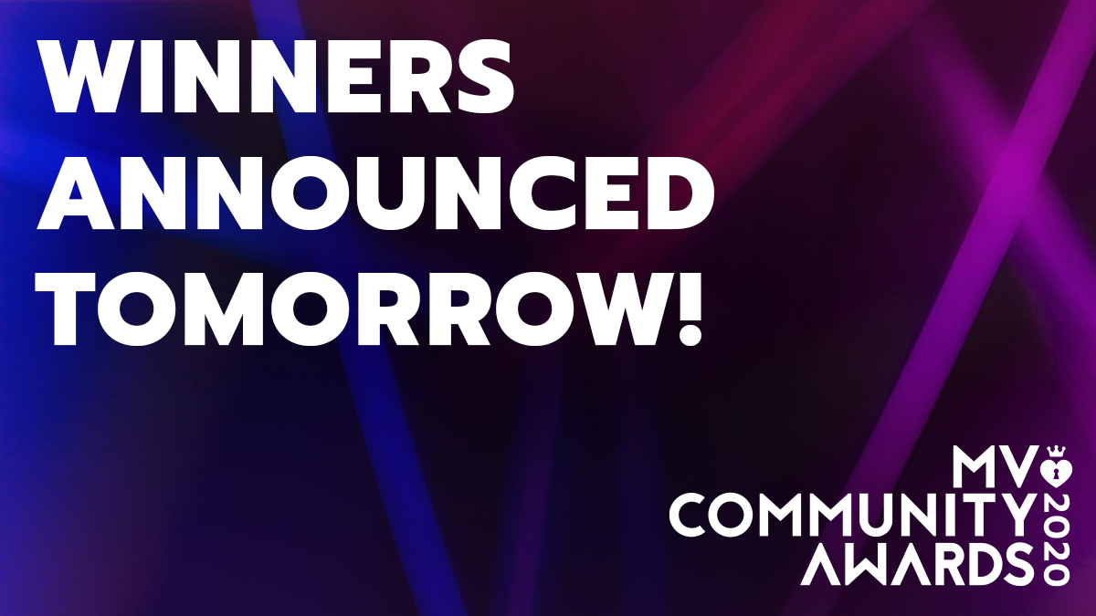 RT and tell us who you're rooting for! We're announcing this year's #MVCommunityAward Winners TOMORROW! 🎉 Thank you to everyone who participated and voted! We're so lucky to be able to empower our MV Stars and #CelebrateYourPassion everyday! 🎉 https://t.co/fvh4yb4BvN https://t.co/U9adWVAsKj
