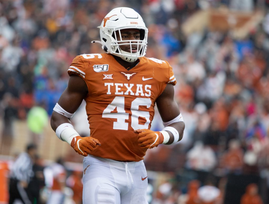 Joseph Ossai and Caden Sterns both were named to the Chuck Bednarik Award Watch list. The Bednarik Award is given annually to the most outstanding defensive player in college football. #HookEm <br>http://pic.twitter.com/OVunuqVjRu