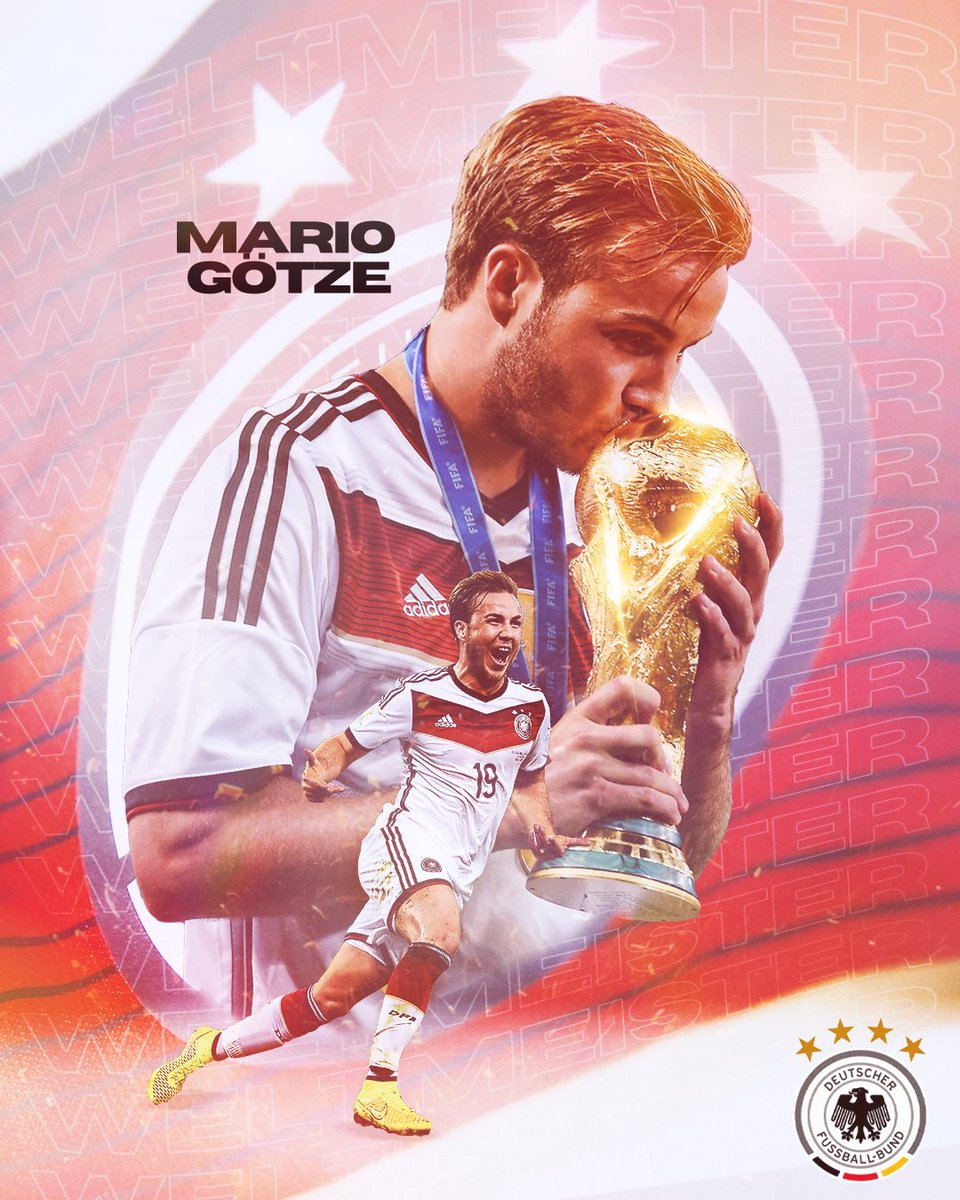 #OnThisDayInFootball   @MarioGoetze scored the game-winning goal for Germany in extra time against Argentina in the 2014 @FIFAWorldCup final! #DieMannschaft #WM2014pic.twitter.com/w3TIpnCgPm