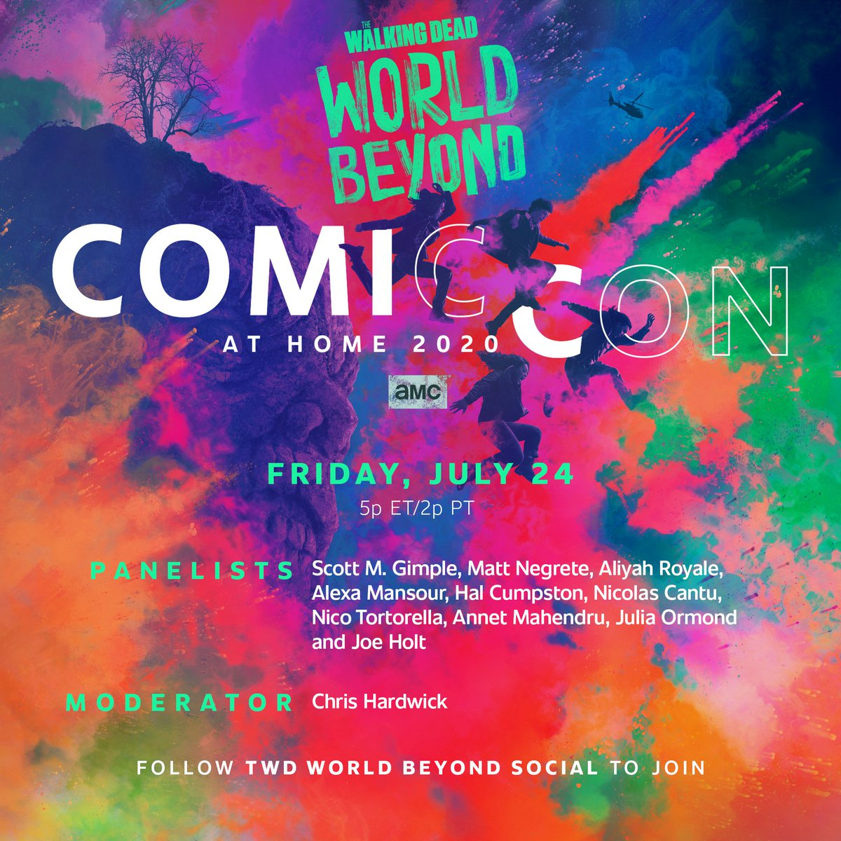 Replying to @TWDWorldBeyond: #TWDWorldBeyond is coming to you. Don't miss their #ComicConAtHome panel on July 24th.
