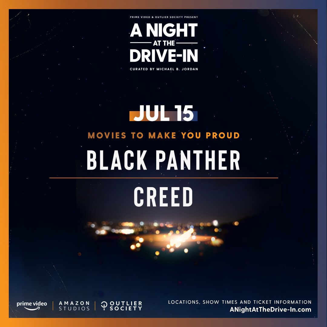 Looking for something different to do for date night? Check out the Summer Screening Series curated by Michael B. Jordan, at select drive-ins nationwide. Philly friends, you can see these films at Shankweiler's Drive-In 🎥 🍿 https://t.co/w0PTweM6gg