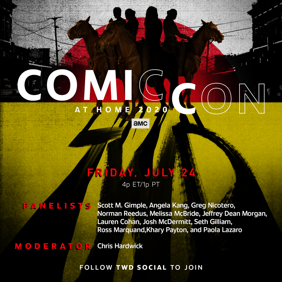 From the #TWD Universe to Christmasland. Join all your favorites with #ComicConAtHome July 24th and July 25th.
