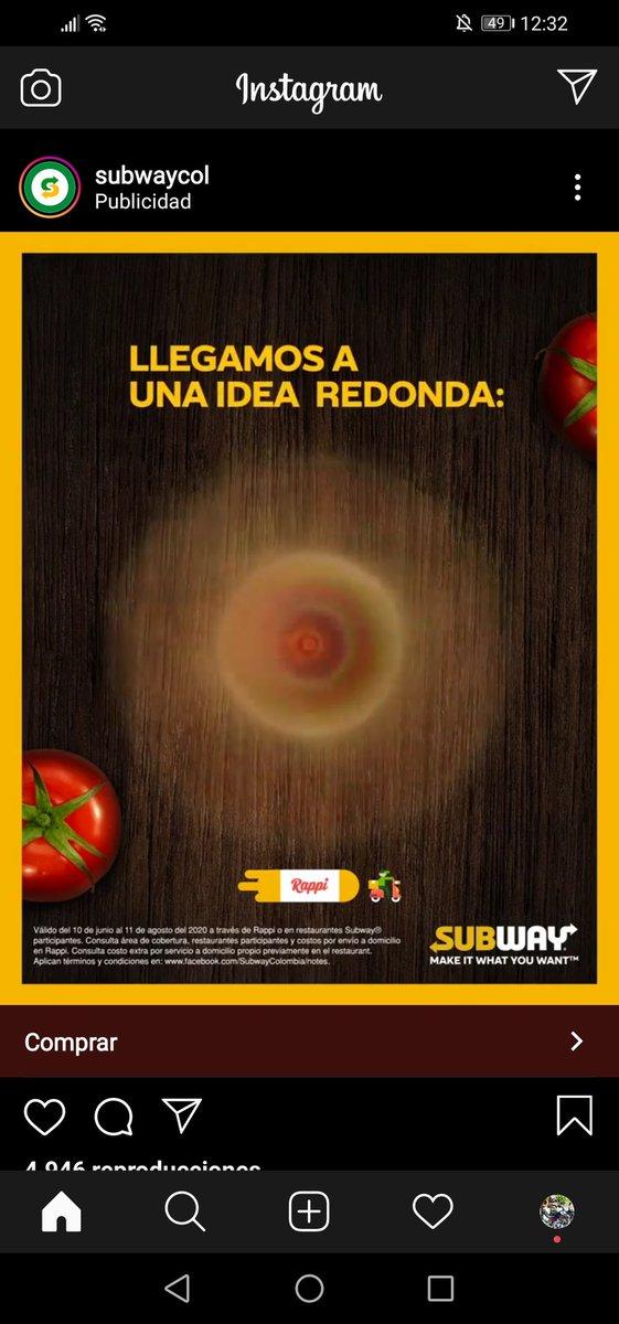No se ustedes que ven en esta pieza publicitaria de @SUBWAY #subliminal por favor opiniones, ¿que ven? #FelizLunes #Subway #Colombia #Lunes #Publicidad #subliminal #Advertising #MarketingDigital #marketing #13Julio #COVID19 #LaW @lafm @pulzo @Laotraorilla_co @lasillavacia https://t.co/AOSi6SLIoT