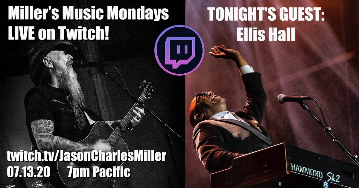 TONIGHT! You don't want to miss this! My guest is The Ambassador of Soul, @EllisHallMusic! Tune in right here at 7PM: