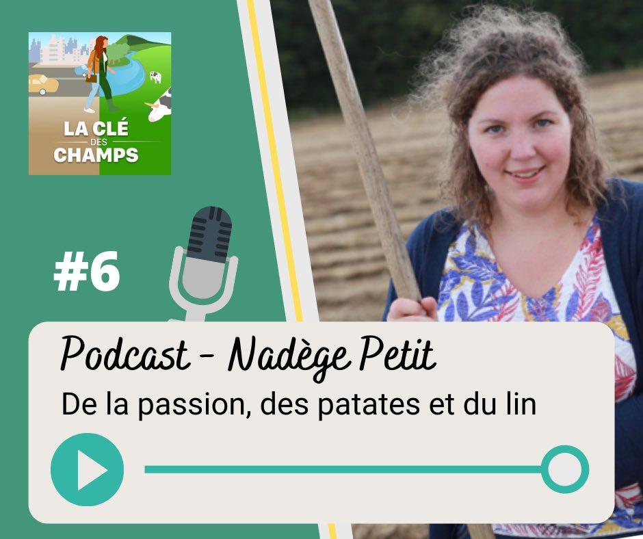 """Nouvel épisode sur le #podcast """"La Clé des Champs"""" ! On a parlé lin et pomme de terre avec Nadège @agri_zoom en #normandie   On a aussi discuté de son installation sur la ferme familiale et de ses motivations ! Bonne écoute ! https://urlz.fr/cKAs @Fragritwittospic.twitter.com/93VDQAGll3"""
