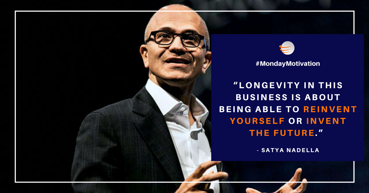 #MondayMotivation | It is believed that the future of any business is not about its past successes. #Evoke #EvokeTechnologies #Monday #Innovation #Inspiration #Success #jobs #work #workfromhome #stayhome #staysafe #covid19 #corona #tips #value #results #career #SatyaNadella https://t.co/RVpxQbjZY0