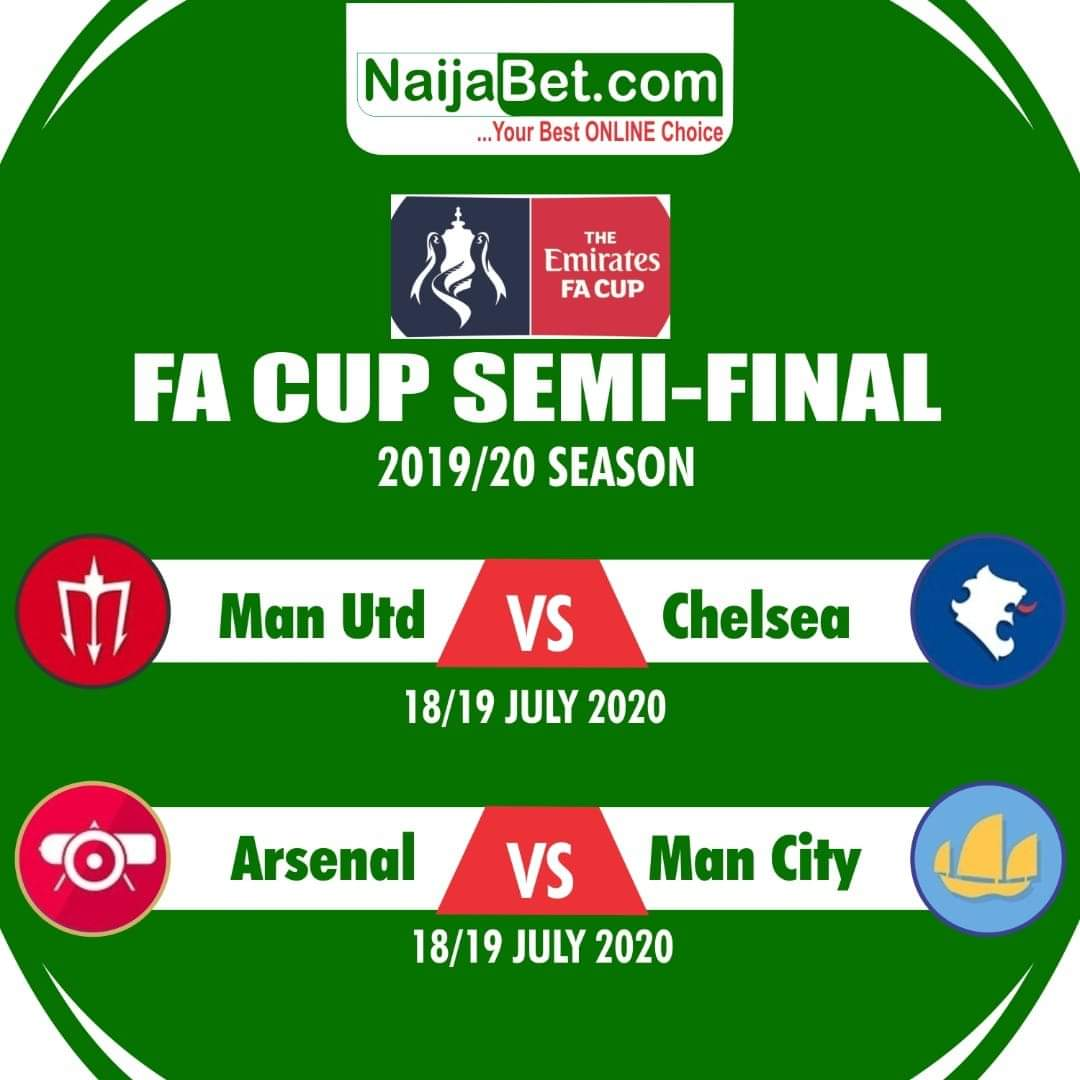 🔥#FACup  🤷♂️Which Team will make it to the Finals?  Let's have your comments 👇  #NaijaBet #BoostedOdds https://t.co/UhPvgXy6R4