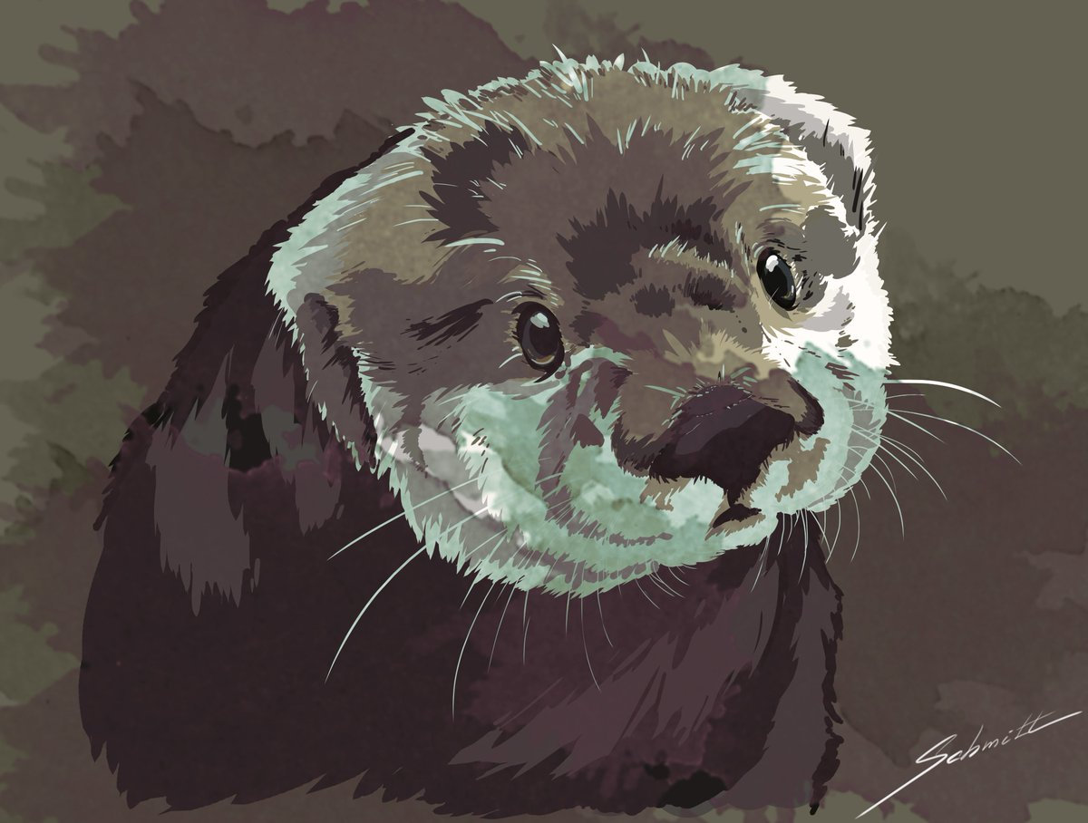 Novo no Twitter, aqui vai a minha primeira postagem e minha primeira arte digital, uma Lontra Marinha feita por camadas/layers 😊  #art #arte #desenho #lontra #otter #seaotter #drawing #layers #camadas #shades #cute #fofo #animal #curiosa #curious #schmitt https://t.co/AmzTGjH0yi