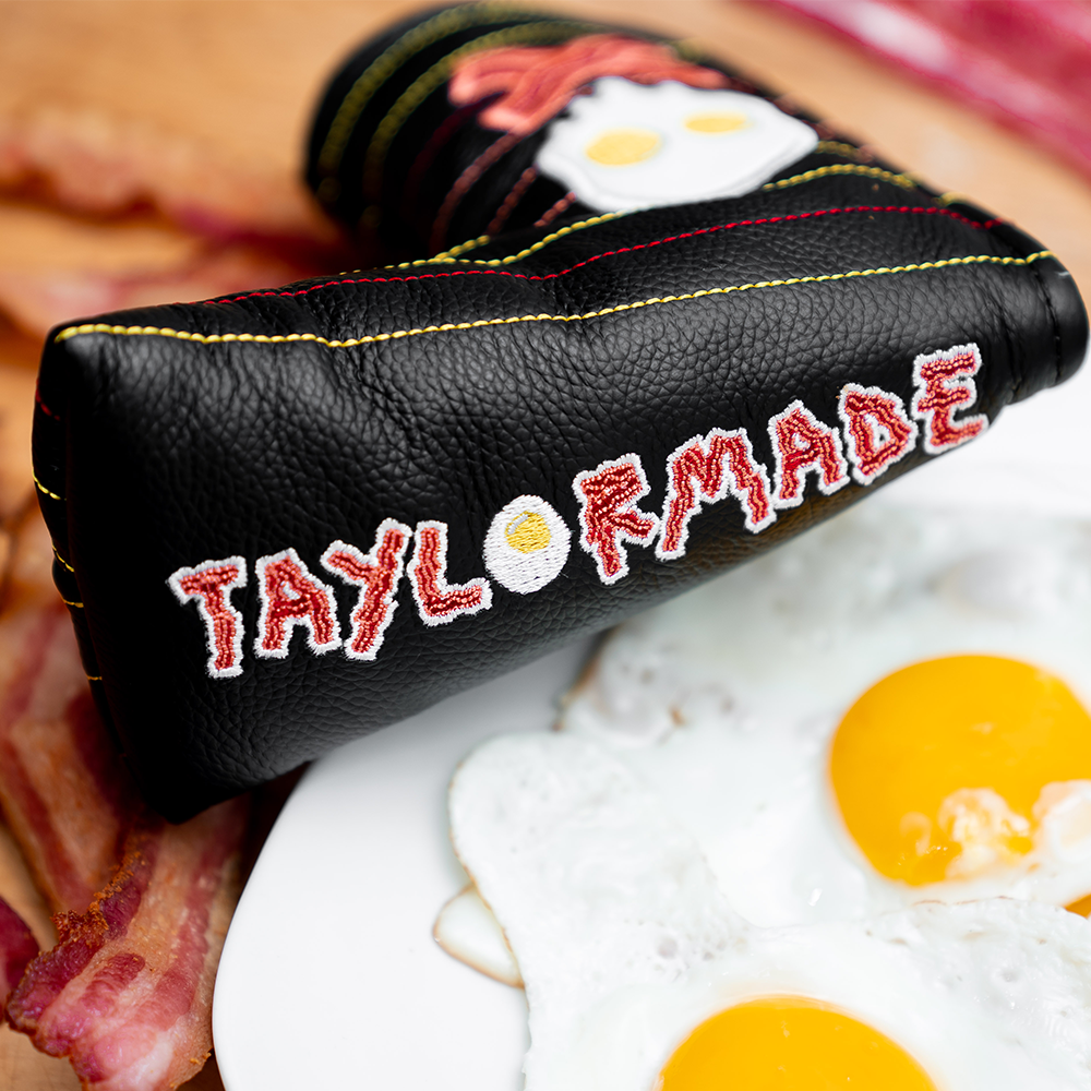 Bringin' home the 🥓. In honor of our resident breakfast aficionado, @collin_morikawa, winning yesterday, The Vault's serving up the same special limited edition headcovers we made just for him! Order yours before theyre gone: tmgolf.co/BaconEggHC *U.S./Canada Only*