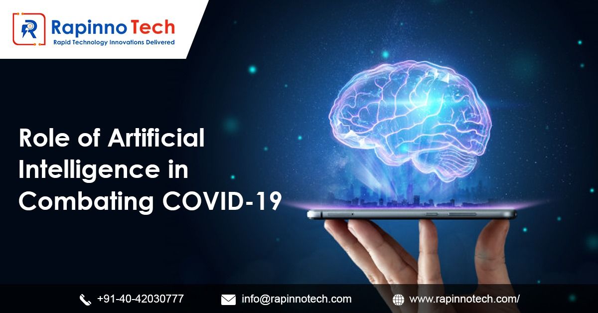 """Here is a 2-minute read on """"Role of AI in combating Covid-19""""  https://t.co/kHoa5yxC7Q  #AI #artificialintelligence #coronavirus #COVID19 #RapinnoTech #software #information #technology https://t.co/HhaJYxhWEC"""