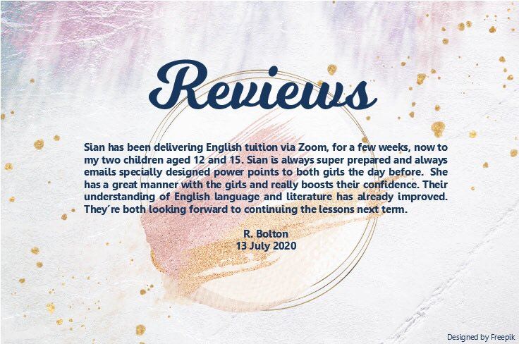 As we come to a natural lull in studying, these kind words were sent to me👇🏻🥳👩🏼🏫  #review #onlinetutor #tutoring #english #media #film #ks3 #gcse #alevel #learningathome #learning #homeschool #learninggoals #learningbomb #success #reachingyourgoals #progress #achieve #inspire https://t.co/rBuQgIrj5p