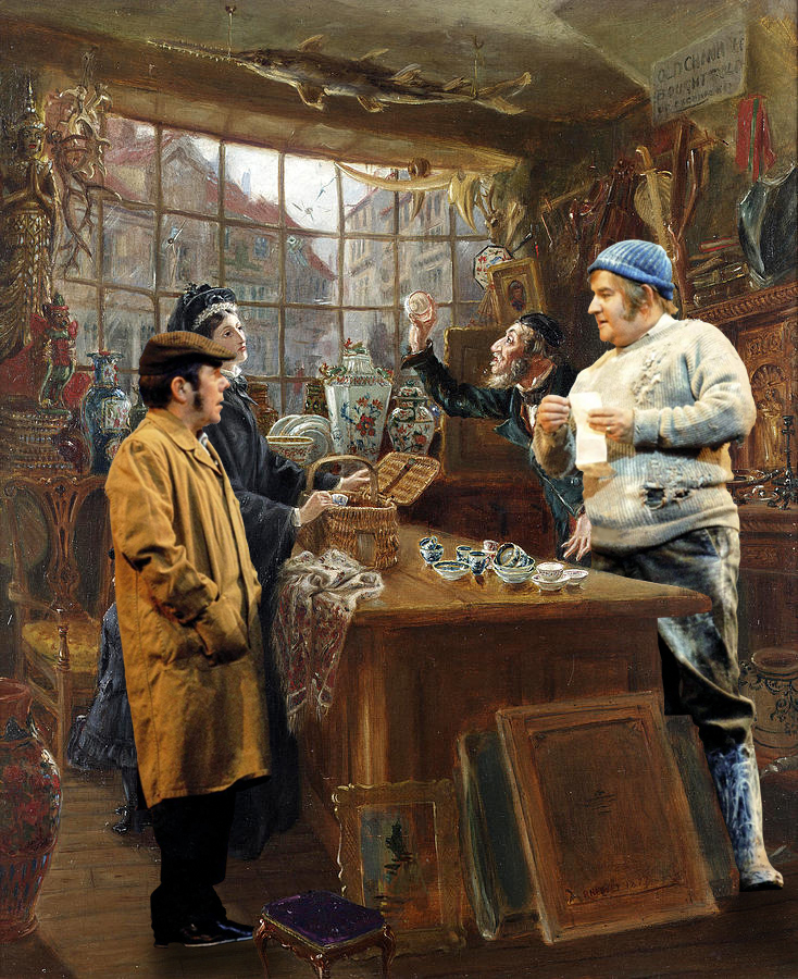 Ralph Hedley - 'The Old China Shop With Ronnie Corbett And Ronnie Barker Performing The 'Fork Handles' Sketch'... #Television #TV #Film #Movie #Arty #Paintings #Mashup #TheTwoRonnies https://t.co/dERHDC9cmZ