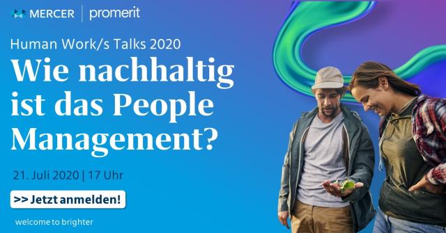 """In unserem nächsten Human Work/s Talk am 21.07.2020 steht das Thema #Sustainability im Fokus und wir fragen: """"Wie nachhaltig ist das #PeopleManagement?"""" Melden Sie sich jetzt kostenlos an. #futureofwork #hws #hwsummit #nachhaltigkeit https://t.co/v6KFQxCRYw https://t.co/aVZCWWDnGc"""