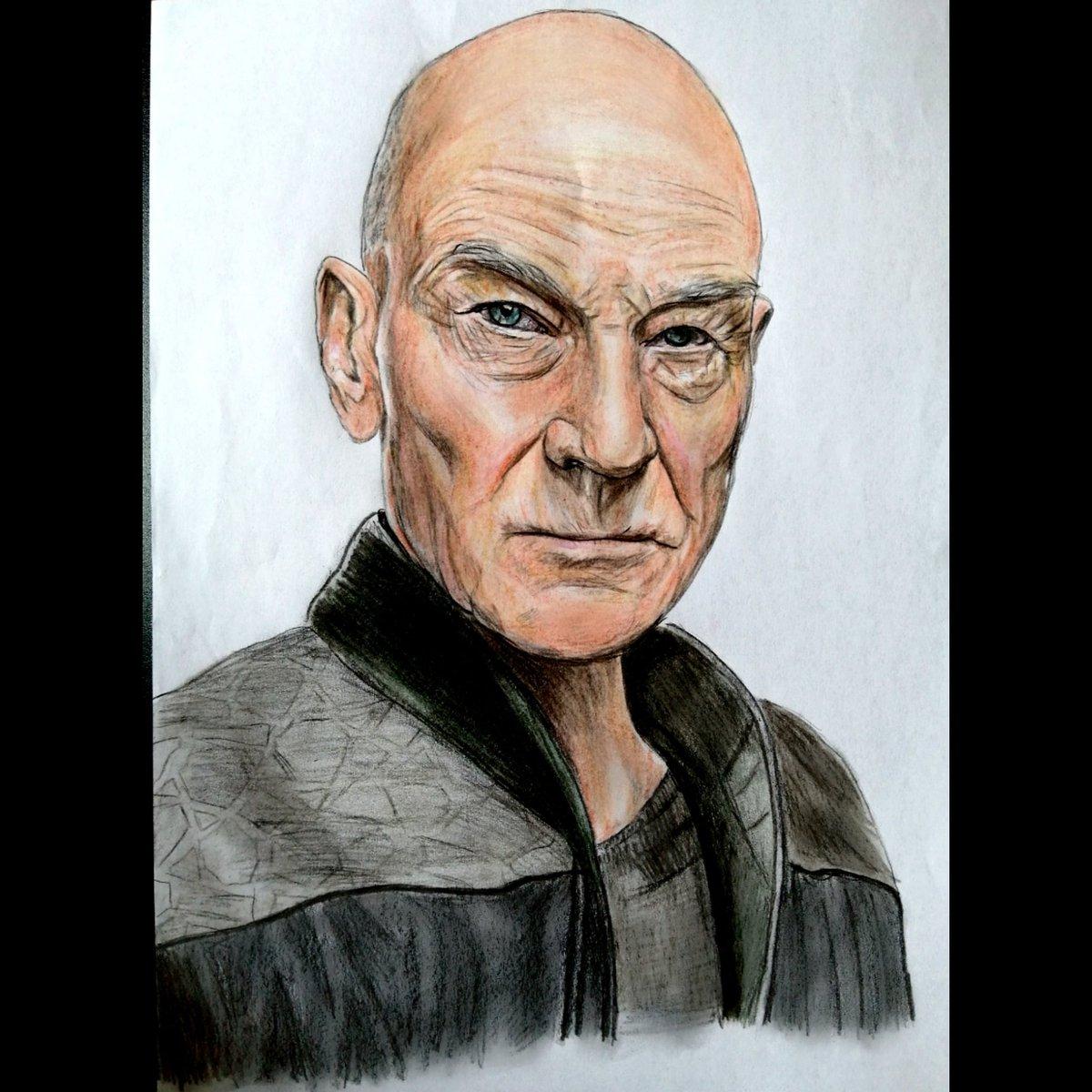 Happy 80th Birthday to Sir Patrick Stewart. This is a drawing I did of him as Picard. @SirPatStew #patrickstewart #startrekthenextgeneration #StarTrekPicard #startrek #art #drawing #TheXMen @BrentSpiner @Marina_Sirtis @jonathansfrakes @levarburton @akaWorf @gates_mcfadden https://t.co/nM1eAzXJ7g