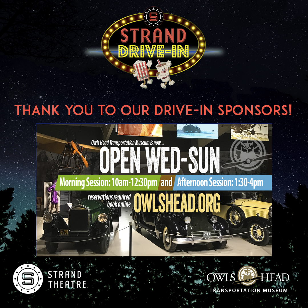 Thank you to our Drive-In Sponsors! Owl's Head Transportation Museum!  https://t.co/DUQuHFUq6z  117 Museum St. Owls Head, Maine  207-594-4418  https://t.co/1kl3pWG0K9  We appreciate your support!  #OwlsHeadTransportationMuseum #RocklandStrand #Film #DriveIn #Community #Arts https://t.co/Beh9QeXwPF