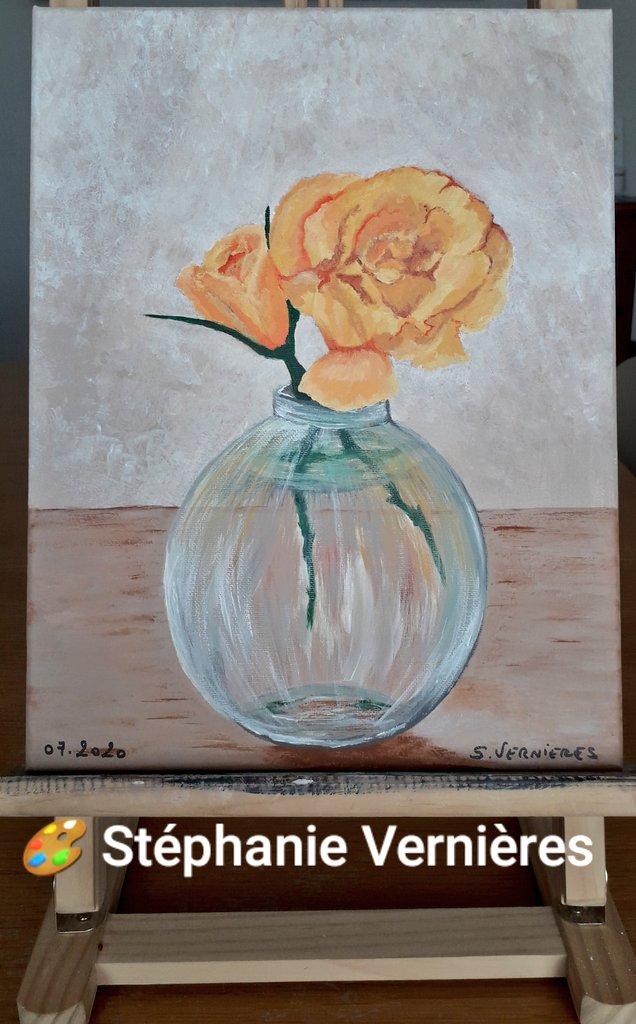 """La petite dernière🎨 """"Orange duo"""" Acrylique sur toile En 35 cm x 27 cm #mypainting #art #peinture #acrylicpainting #contemporaryart #contemporaryartist #stephanievernieres🎨 #frenchartist #frenchart #artlovers #artiste #artwork #soutenezlesartistesvivants https://t.co/oz94G6LRHr https://t.co/rpegLUyZQ9"""