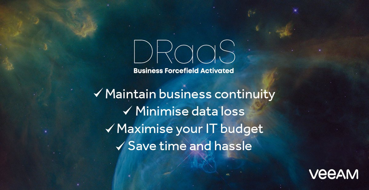 Choose a modern, dependable option to protect your business-critical #data with disaster recovery as a service (DRaaS) solution and benefit from 50% off our intelligent #cybersecurity tool Threat Monitoring until 31st July 2020.* Claim now: https://t.co/LjGJE7y4xU https://t.co/jWQaYAitms