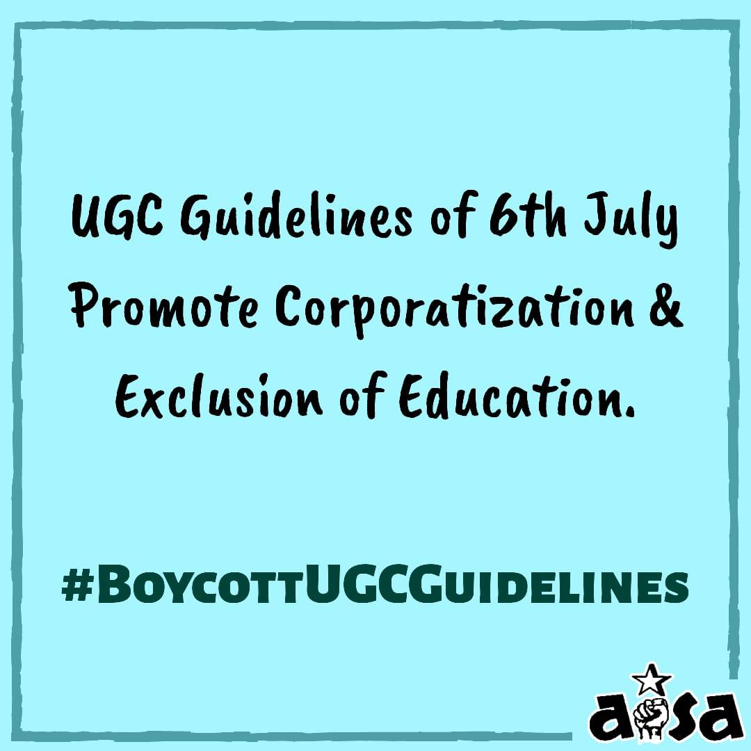 #BoycottUGCGuidelines  #NoExamsUGC #generalpromotiontompstudent  #PromoteFinalYearStudentspic.twitter.com/ZaQOSNRY8e