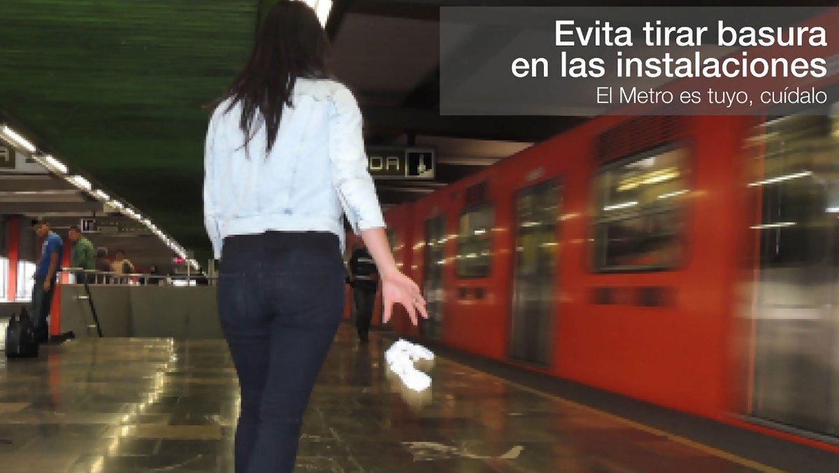 Tirar basura a las vías del tren, en especial objetos metálicos, generan cortocircuitos y retrasos en el servicio. https://t.co/VnfS3vFPIP