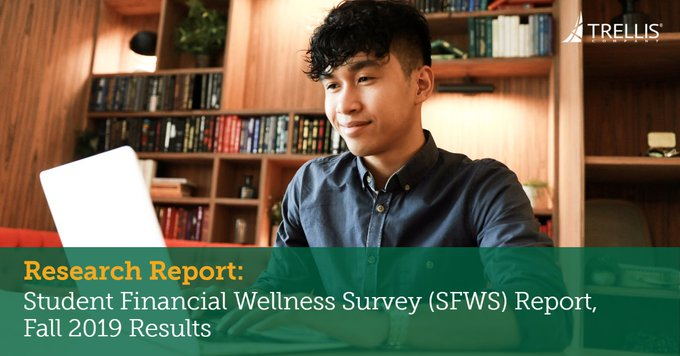 Must read student #financialwellness report.  70% of 4-year #collegestudents are concern with being able to afford college.  Great job @Trellis_Company   https://bit.ly/3epvARW  #payingforcollege #studentdebt #goodmathpic.twitter.com/a2oaOPCDI7