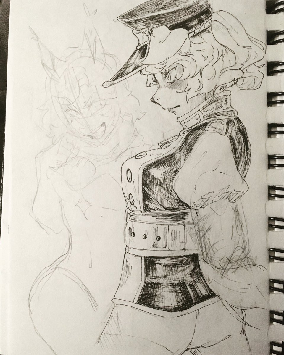 Dog Detective Collier and her faaaamily.  Tiny one is Charmy and the smiler is Kindle  Feat. A tiny Calico #NobodyArtistsClub #under1kgang #art #traditionalart #sketch #oc #characterdesign https://t.co/nVrig0uJBM