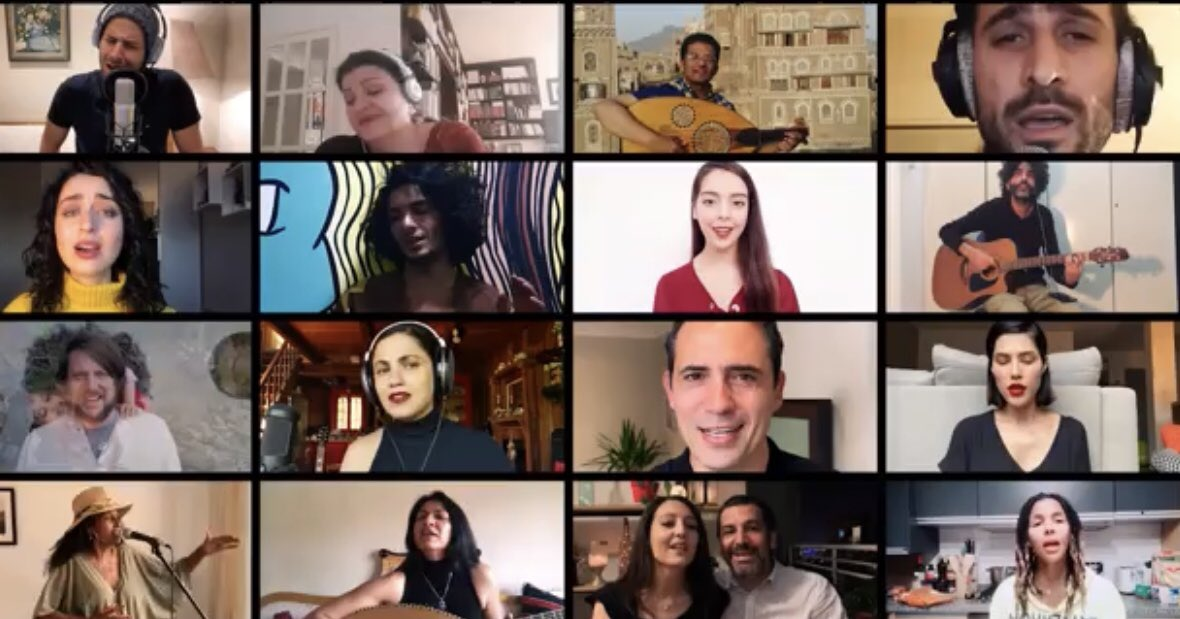 """If you nothing today other than listen to """"My Word Is Free,"""" it will be a day well spent. You won't forget the music, the faces, the words. It's an anthem of liberation - a gift from talented Arabs to a world hungry for freedom. Thank you @MathlouthiEmel."""