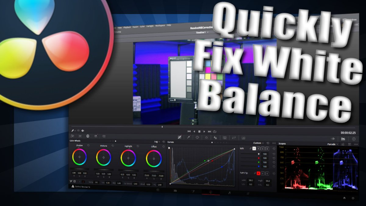 Learn how to quickly and correctly correct your white balance in Resolve 16. #contentcreators #blackmagicdesign #smallyoutubersupport #SmallStreamerCommunity   https://t.co/toe6b35Y3t https://t.co/T7FqSF1n8m