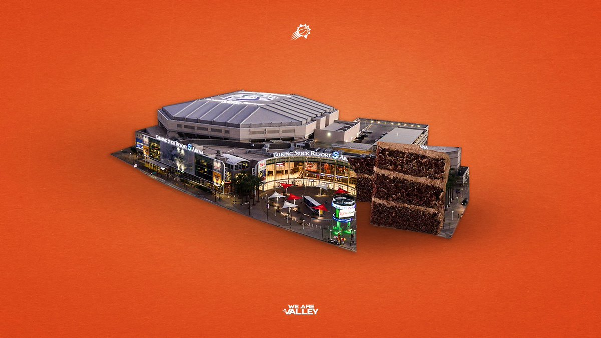 The Phoenix Suns would like to issue the following statement :   After undergoing renovations on @TSRarena we have come to conclusion that it is indeed... made of cake https://t.co/k6dZ8f8NcN