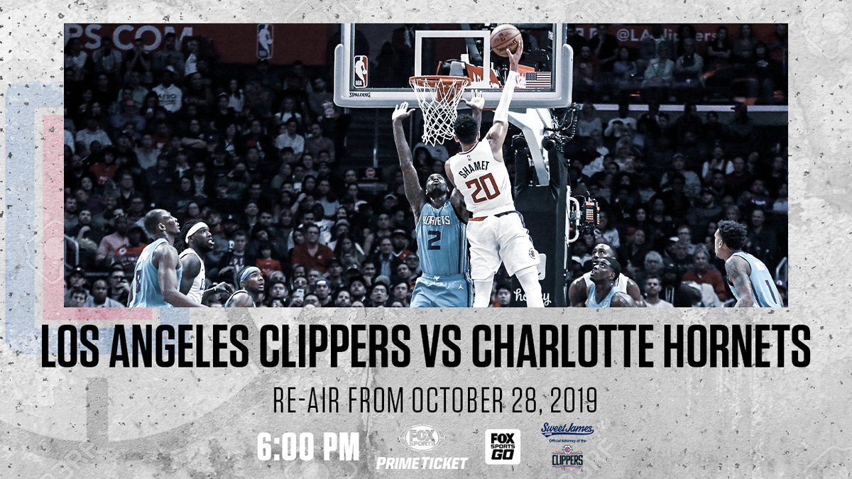 Another day of our @LAClippers marathon!   Don't miss your Clippers take on the Hornets, tonight on #PrimeTicket! https://t.co/JYzcicxMk9