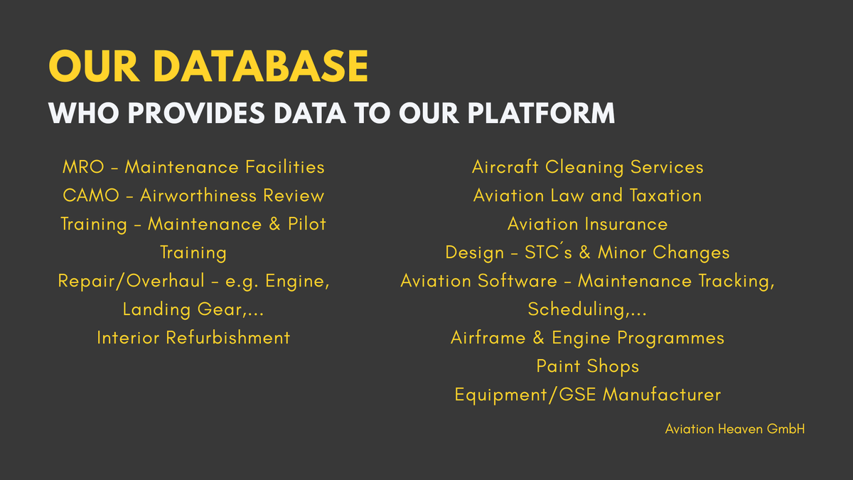 Find your #bizav service you need in no time! Check out the #aviationheaven database of suppliers! https://t.co/nnBcOBSXa0 https://t.co/yDMhqP0WBJ