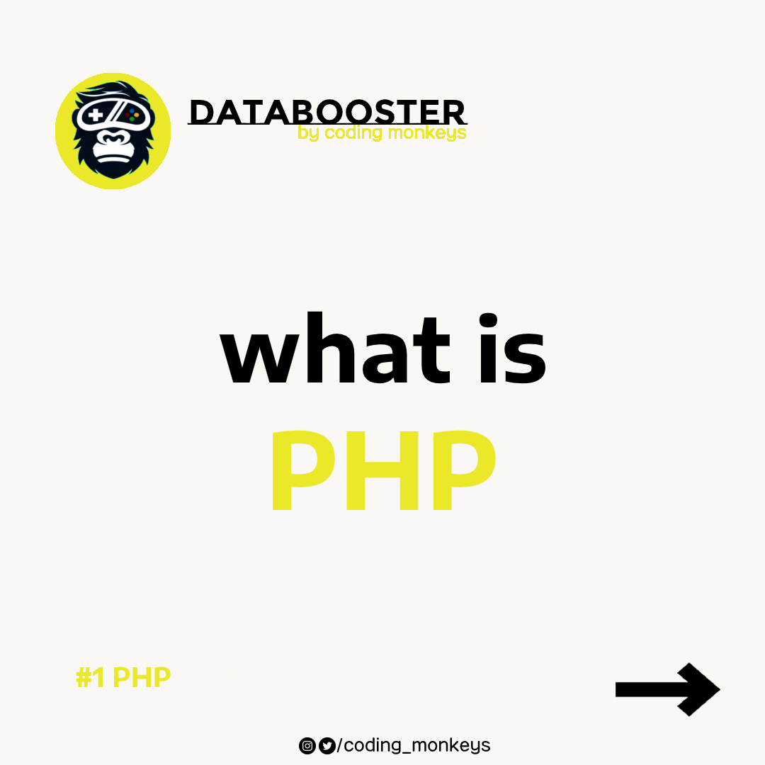 What is PHP?⁣ (Open images, more in thread)  #Python #rstats #java #javascript #AWS #100DaysOfCode #ReactJS #Coding #CloudComputing #HTML #Serverless #cybersecurity #DataScientist  ⁣#Linux #Programming ⁣#WomenWhoCode https://t.co/FaCvpTsSHa