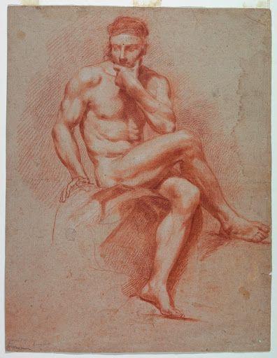 Title: A nude man Date Created: ca. 1800 bit.ly/2CVe9ff #art #nudeman #man #meninart #artmonday